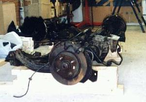 XR4x4 rear subframe as delivered